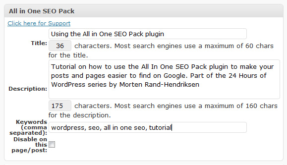 Seo plugin for wordpress Allin one seo plugin for wordpress